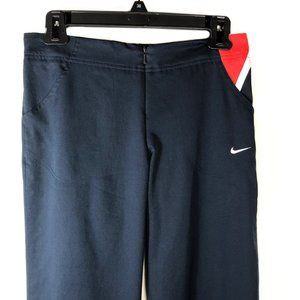 Nike Crop Pants with Front Zipper and Pockets